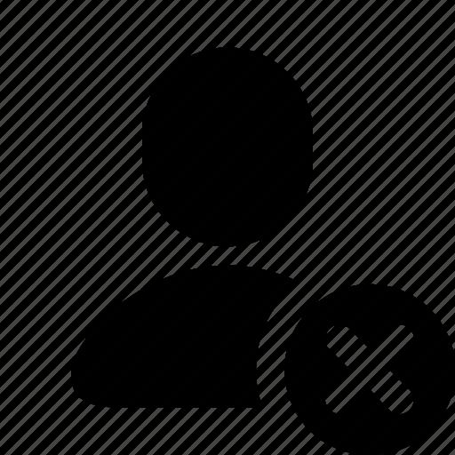 avatar, cross, delete, human, person, remove, user icon