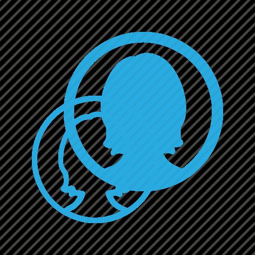 female, peson, user icon