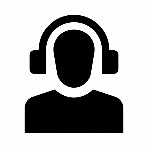account, avatar, headphones, human, person, profile, user icon