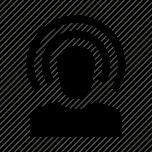 account, avatar, hearing, human, profile, sygnal, user icon