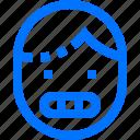careers, emoji, emoticon, face, grimacing, teeth, users