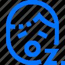 careers, emoji, emoticon, face, sleepy, users, z