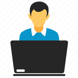 client, labtop, laptop, manager, notebook, person, server, user icon