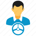drive, user, account, avatar, human, male, man, person icon