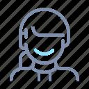 avatar, female, hair, profile, tied2, user, woman icon