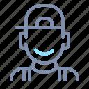 avatar, hat, male, man, person, profile, user
