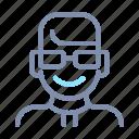 avatar, male, man, person, profile, short, user
