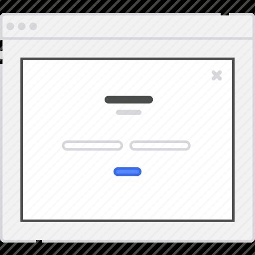 application, diagram, flowchart, form, in, lightbox, login, sign, sitemap, user flow, website, wireframe, workflow icon