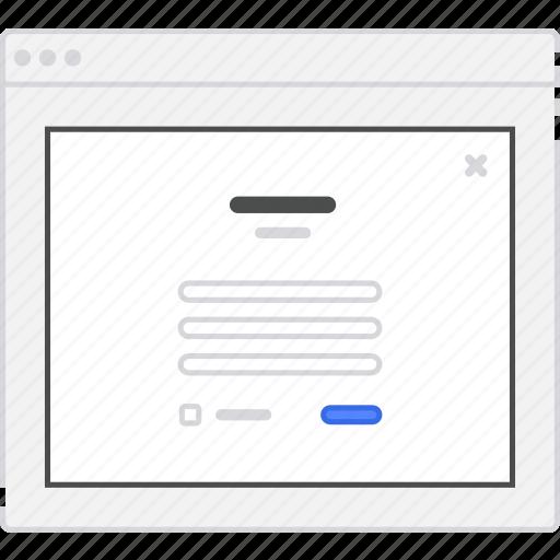 application, diagram, flowchart, form, lightbox, login, sign, sitemap, up, user flow, website, wireframe, workflow icon