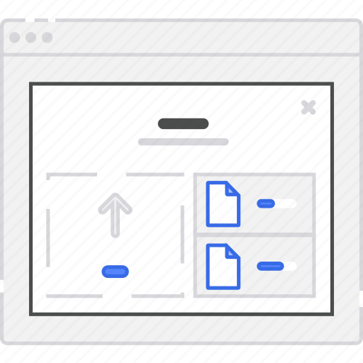 application, diagram, files, flowchart, form, lightbox, login, sitemap, upload, user flow, website, wireframe, workflow icon