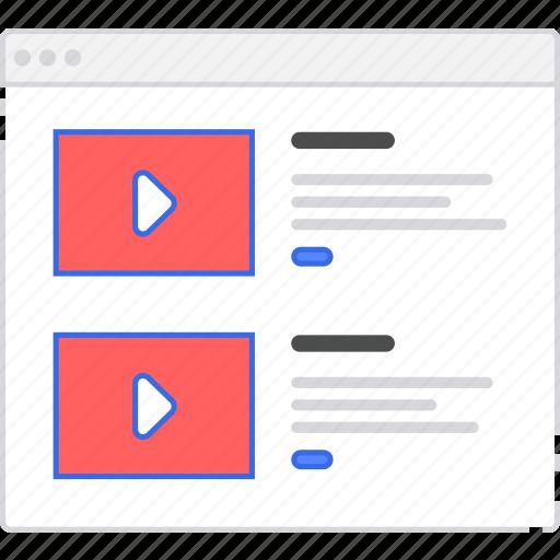 application, flowchart, rows, scheme, sitemap, user flow, video, website icon