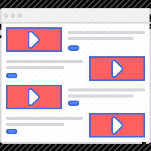 alt, application, flowchart, rows, scheme, sitemap, user flow, video, website icon