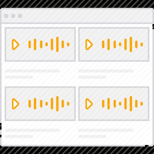 application, audio, flowchart, list, scheme, sitemap, user flow, website icon