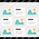 application, flowchart, grid, m, scheme, sitemap, user flow, website icon