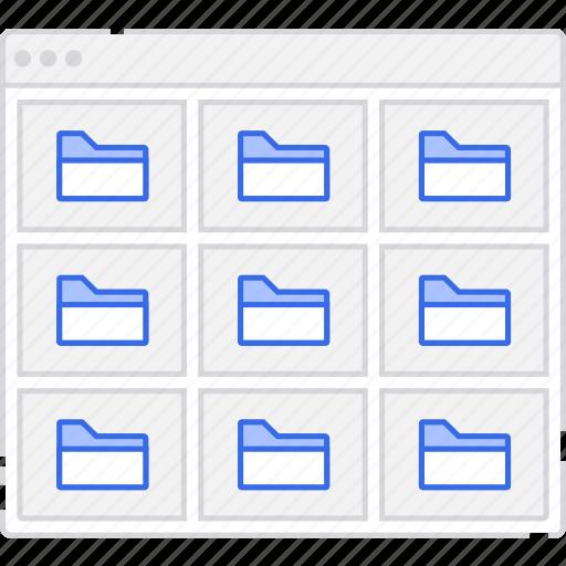 application, flowchart, folder, grid, m, scheme, sitemap, user flow, website icon