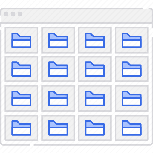 application, flowchart, folders, grid, s, scheme, sitemap, user flow, website icon