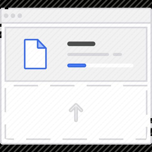 application, file, flowchart, scheme, sitemap, upload, user flow, website icon