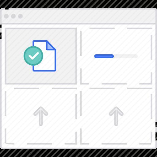 file, files, flowchart, scheme, sitemap, upload, user flow, website icon