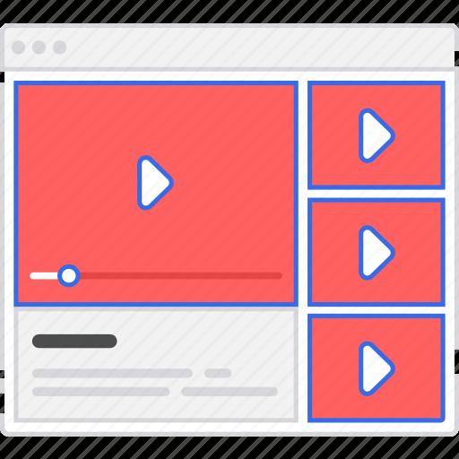 application, flowchart, player, scheme, sitemap, user flow, video, website icon