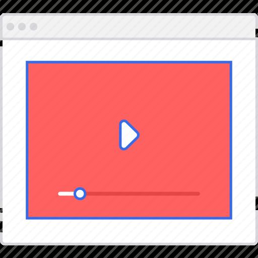application, player, scheme, sitemap, user flow, video, website icon