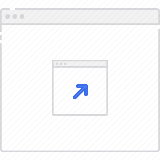external, flowchart, link, page, sitemap, user flow, workflow icon