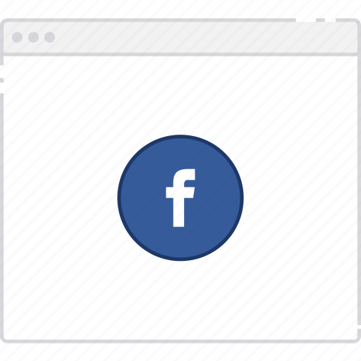 facebook, flowchart, page, sitemap, user flow, workflow icon