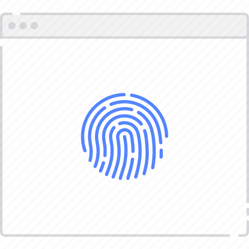 fingerprint, flowchart, page, sitemap, user flow, workflow icon