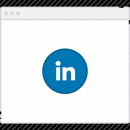 flowchart, linkedin, page, sitemap, user flow, workflow icon