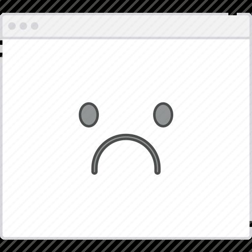 Workflow, user flow, sad, flowchart, page, sitemap icon
