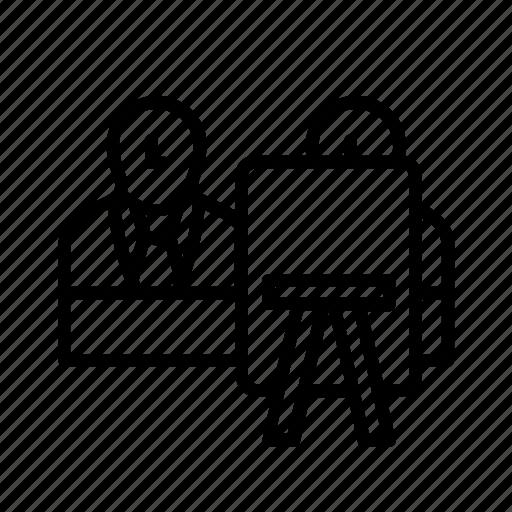 business, education, executive, presentation, ux, workshop icon