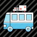 vacation, bus, van, holiday, trip