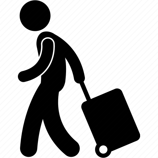 luggage, man, people, person, travel, trip, vacation icon