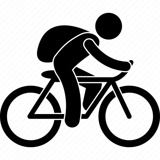 bicycle, bike, leisure, man, person, recreational, riding icon