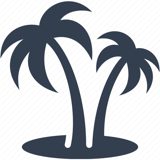 beach, nature, palm, seaside, summer, travel, tree, vacation icon