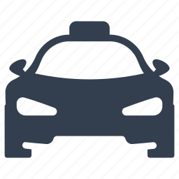 auto, car, front view, public, sedan, service, taxi, transportation, travel, vacation, vehicle icon