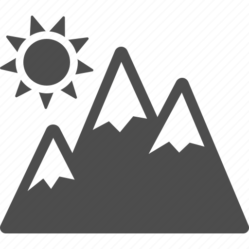 mountain, mountains, skiing, snow, sun, vacation, winter icon