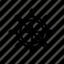 boat, boating, sailing, ship, steering wheel, vacation, yacht icon