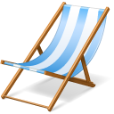 chair, beach, summer, vacation, hairy icon