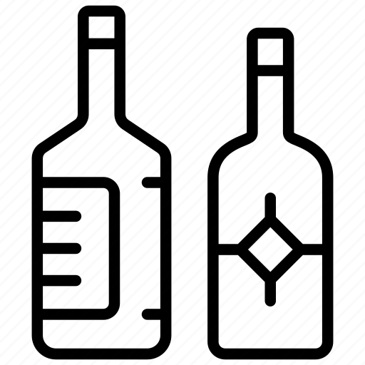 Alcohol bottles, beverage, champagne, drink, wine bottles icon - Download on Iconfinder