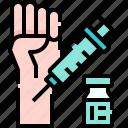 injection, hand, vaccine, drug, medicine