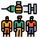 vaccine, clinical, serum, trial, people icon