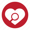 favorite, finder, heart, love, match, valentine icon