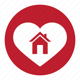 bookmark, favorite, heart, home, house, valentine icon