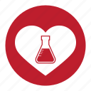 chemistry, experiment, formula, heart, lab, test, valentine, valentines icon