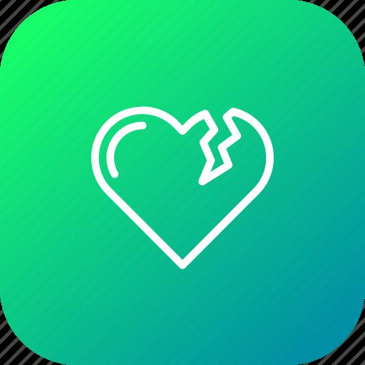 bakeup, break, heart, moveon, reject, relation, valentine icon
