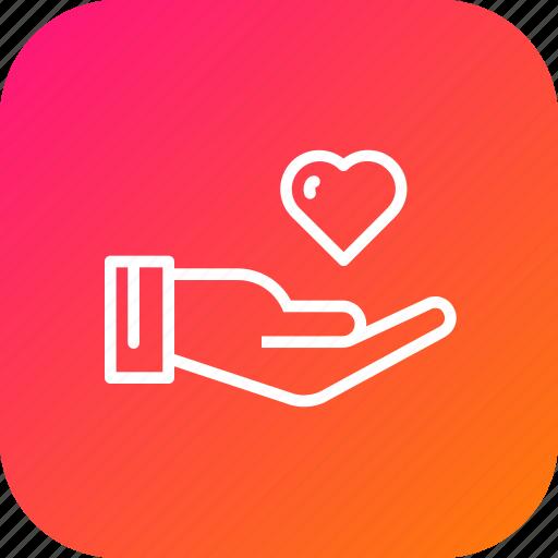Care, feel, gentleman, hand, heart, love, valentine icon - Download on Iconfinder