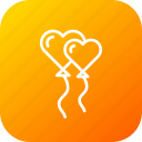 balloon, celebrate, decoration, propose, setup, valentine icon