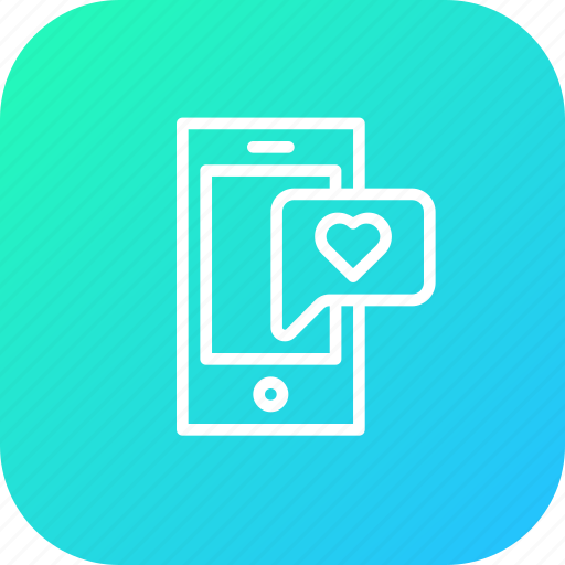 chat, device, flirt, love, message, mobile, valentine icon