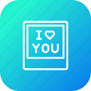 frame, gift, i, love, present, valentine, you icon