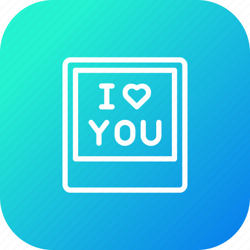 frame, gift, i, love, present, valentine, you icon